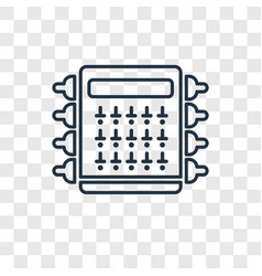 Fuse box concept linear icon isolated on vector