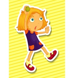 Girl and ball vector image vector image