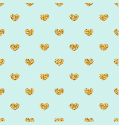 Gold heart seamless pattern golden geometric vector