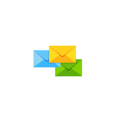 group mail logo icon design vector image