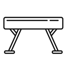 gymnastic bar icon outline style vector image