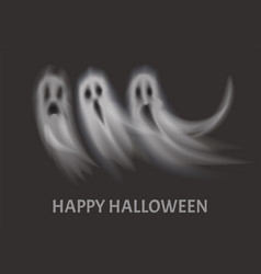 happy halloween apparitions set poster vector image