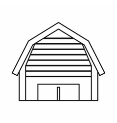 High garage icon outline style vector image