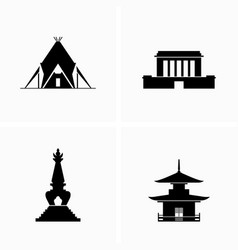 historical architecture and buildings vector image