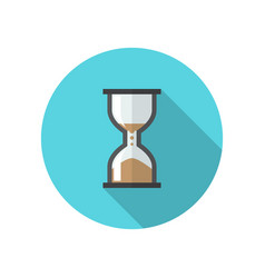 Hourglass icon in flat style vector