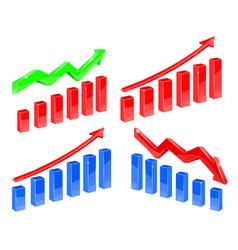 Indication financial charts vector