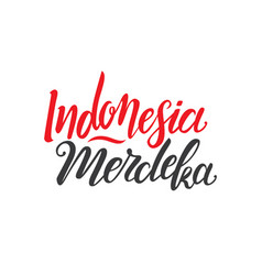indonesian independence day vector image