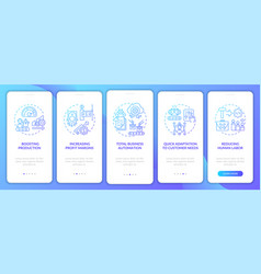 Industry 40 aims onboarding mobile app page vector