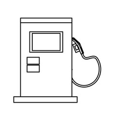 Isolated gas station machine vector