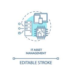 It asset management concept icon vector