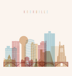 Knoxville state tennessee skyline vector