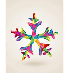 Merry Christmas celebration multicolors snowflake vector image
