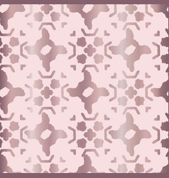 Metallic rose gold geo grid pattern seamless vector