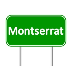 Montserrat road sign vector
