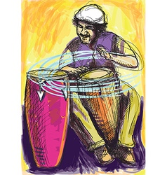 Musician - Conga Player vector image