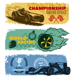 Racing Banner Set vector image
