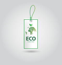 realistic eco banner design vector image