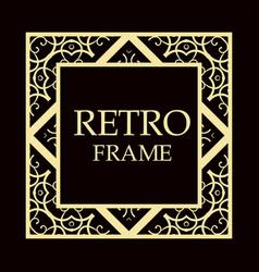 Retro ornamental frame vector