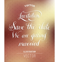 retro save date card vector image