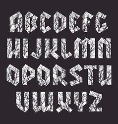 Sans serif geometric font in gothic style vector