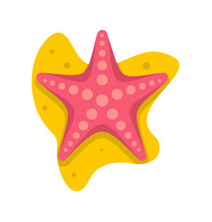 sea star icon flat style vector image