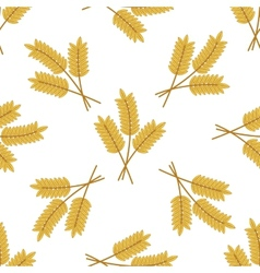 Seamless pattern of barley or wheat ears vector image