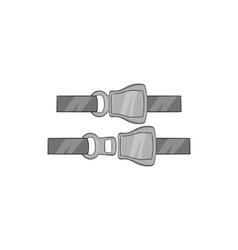 Seat belt icon black monochrome style vector image