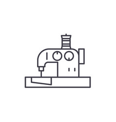 sewing machine line icon concept sewing machine vector image