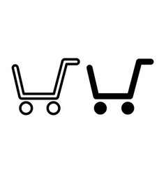 shopping cart line and glyph icon market cart vector image