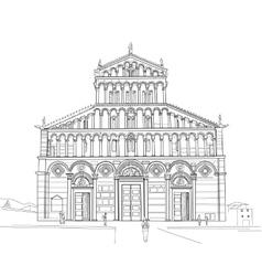 sketch pisa cathedral vector image