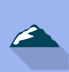 Small mountain icon flat style vector