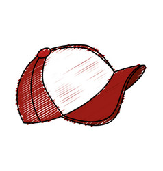 Sport cap isolated icon vector