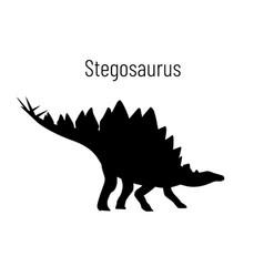 Stegosaurus ornithischian dinosaur monochrome vector