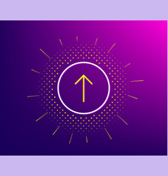 Swipe up button line icon scrolling arrow sign vector