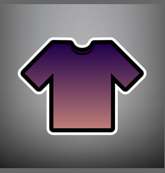 t-shirt sign violet gradient vector image