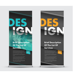 Template roll-up banner with diagonal elements at vector