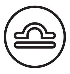 Thin line libra sign icon vector