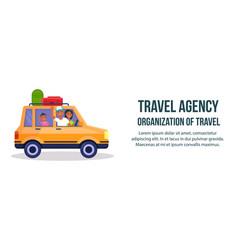 Travel agency organization of travel banner vector