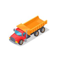 Truck transportation poster vector