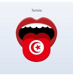 Tunisia language Abstract human tongue vector