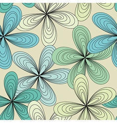 Turquoise floral seamless background vector