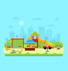 urban landscape with park vector image