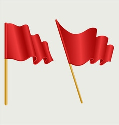 Waving flag vector image