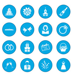 Wedding icon blue vector