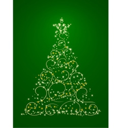 xmas tree illustration in vector vector image