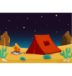 Camp in Desert vector image vector image