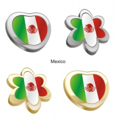 flag of Mexico vector image vector image