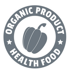 organic product logo simple style vector image