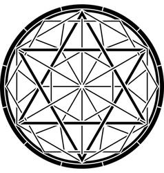 Stencil of magic hexagram vector