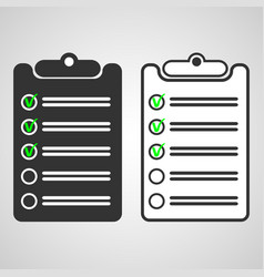 black list and white list vector image